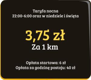 Taryfa nocna Taxi Mieleckiej Sprint